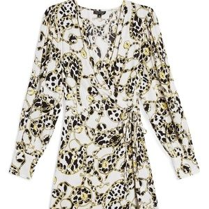 NEW topshop wrap dress peasant style bubble sleeve